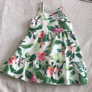 NWOT Tiered Hawaiian Dress, Lined